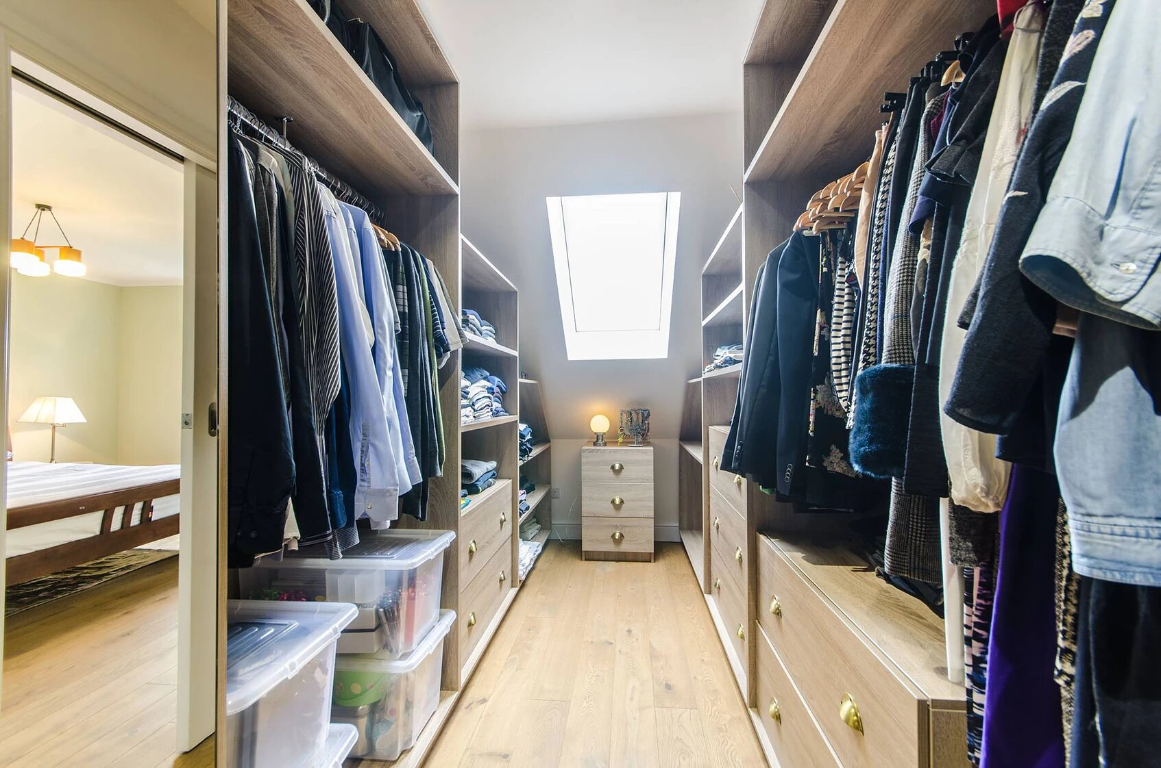 Interior design walk in wardrobe